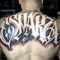 #artist - @cryptictattoo #carlosmacias - USA - #art #lettering #letteringinsoul #thebesttattooartists  #artmotive Tattoo Lettering Design, Tattoo Script, Chicano Art, Calligraphy Alphabet, Tribal Tattoos, New Art, Badass, Tatting, Tattoo Ideas