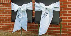Stuhlschleifen Mr & Mrs, personalisierbar mit Namen