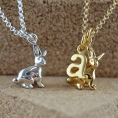 Bunny Necklace Silver by Lily Charmed