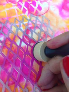 Using acrylic paints and stencils for journals and backgrounds