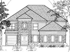 Traditional House Plan with 3904 Square Feet and 3 Bedrooms from Dream Home Source | House Plan Code DHSW18858