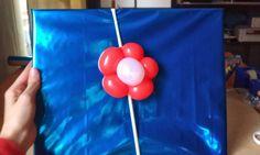 Flor de globos, realizado a mano. 27 / 2 / 2013