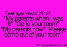 I read this to my mom, and she just smiled and laughed!! lol ^^^^^ This is my life!!