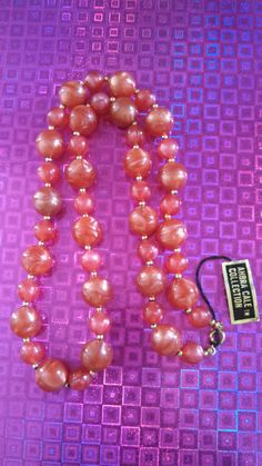 Ahbra Cale Collection Lucite Necklace by MICSJEWELSGALORE on Etsy