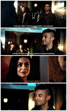 """""""The Fair Folk"""" - Izzy and Meliorn Shadowhunters Tv Show, Shadowhunters The Mortal Instruments, Mortal Instruments Funny, Maxim Roy, Alberto Rosende, Simon Lewis, Isabelle Lightwood, Matthew Daddario, Clary Fray"""