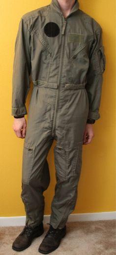 Vintage Mens Military Fighter Pilot Paratrooper Flight Suit Jumpsuit Army | eBay