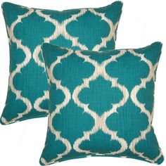 These throw pillows will add a graceful touch to any home dcor. It is filled with soft polyester for maximum comfort. Set of 2. Pillow Shape: Square Material: Cotton Style: Traditional Season or Holid