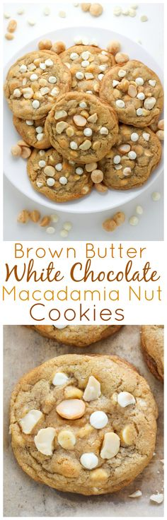 Brown Butter is the perfect addition to these thick and chewy White Chocolate Macadamia Nut Cookies!