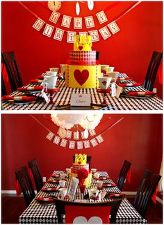 black and red alice in wonderland themed birthday party | Alice in Wonderland Party! | Home Confetti - Party and Event Guide ...