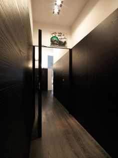 Apartement, Interior Apartmnet Design With Ceiling Lamps And Laminated Wooden Floor Also Black And White Wall: Beautiful Apartment in Trento...
