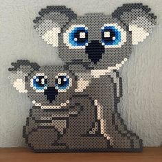 Perler Bead Templates, Pearler Bead Patterns, Pearler Beads, Perler Patterns, Pull Bebe, Hama Beads Design, Melting Beads, Types Of Craft, Beaded Animals