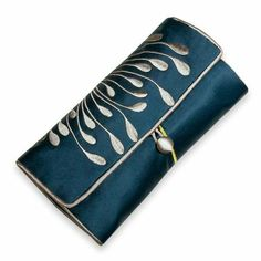 Amazon.com: Embroidered Hyacinth Jewelry Roll, Large (Peacock): Jewelry