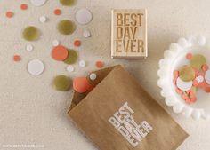 Best Day Ever Uppercase Stamp by Betsywhite Stationery