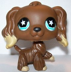 Littlest Pet Shop LPS Cocker Spaniel #960 Dog Puppy Brown with Tan