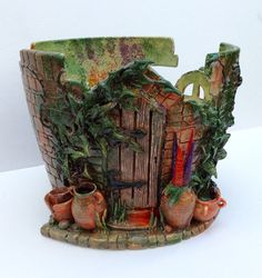 I LOVE THIS ONE SOOOOOO MUCH! - HEATHER SCOTT  ... I found this really awesome Etsy listing at https://www.etsy.com/listing/243351971/secret-walled-garden-yarn-bowl