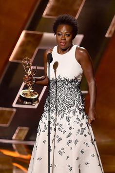 """The 67th Primetime Emmy Awards Ceremony - Viola Davis WON the award for Outstanding Lead Actress in a Drama Series for """"How to Get Away With Murder"""" at the 67th Primetime Emmy Awards."""