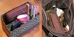 Duct tape purse organizer
