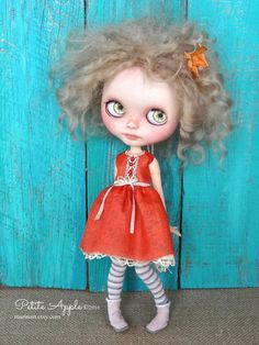 Blythe doll outfit OOAK Something red something by Marinart