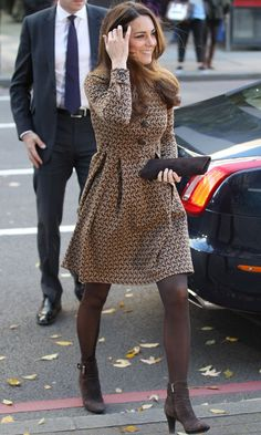 Visit to London HQ of Only Connect (November 2013) Coat Dress - Orla Keily, Clutch - Stuart Weitzman, Boots - Aquatalia. (Entire outfit previously worn to schools in Oxford with charity The Art Room in February 2012)