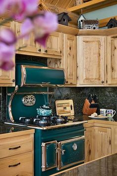 Blue or red stove and this would be perfect  Montana Log Homes