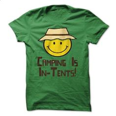 Happy camping is - In Tents! - #chambray shirt #grey sweatshirt. ORDER NOW => https://www.sunfrog.com/Camping/Happy-camping-is--In-Tents.html?68278