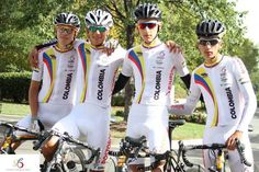 Members of the colombian national team at Richmond 2015 getting ready to ride on stradalli cycles