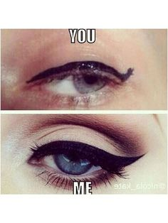 flawless cat eyes -- Click through for the 20 best beauty memes ever | allure.com