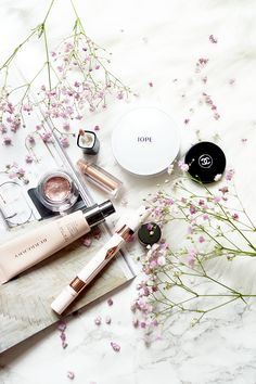 beauty lifestyle flatlay