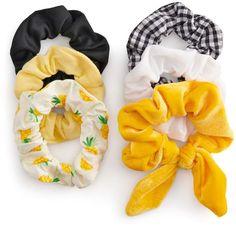So SO Pineapple Hair Scrunchie Set of 6