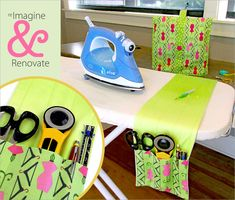Re-imagine & Renovate: Ironing Board Caddy, Thread Catcher & More | Sew4Home Free project instructions