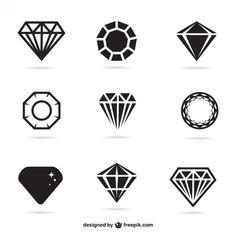 Conjunto de iconos de joyas Vector Gratis