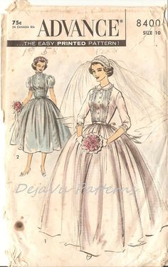 By DejaVu Patterns, Etsy listing at https://www.etsy.com/listing/193042216/advance-8400-vintage-1950s-shirtwaist