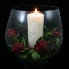 candle and flower arrangements - Google Search