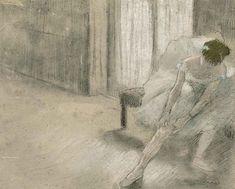 Edgar Degas - Danseuse tirant son maillot (La...