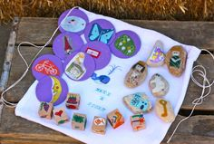 "Make a story, make some story disks, dice and stones to give as a gift!  Part of the ""Make it up"" series at Buzzmills"