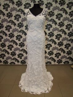 "Irish crochet wedding dress ""Mystery""., via Etsy."