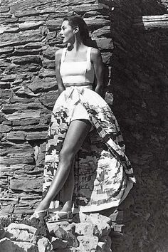 1940s summer fashions Love these type of beach skirts that you wear over your swim suit.
