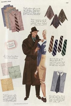 1930s Esquire and Apparel Arts Illustrations