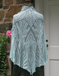 WOW Back to the Garden Shawl by Andrea Jurgrau (BadCat Designs) pattern for sale on Ravelry $15