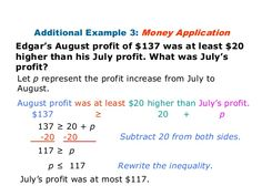 word problems with answers | inequalities | Pinterest | Math ...