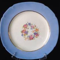 Prato De Parede Porcelana Mbl Decoração Floral - R$140,00