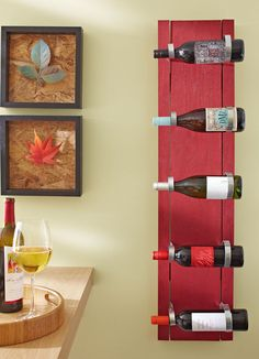 cute idea for a wine rack, but also thinking about modifying it to display my husband's baseball bats :)