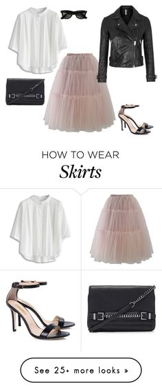 """How To Style A Tulle Skirt"" by stylebyjonathan on Polyvore featuring Diane Von Furstenberg, Chicwish, Topshop, Dee Keller and Ray-Ban"