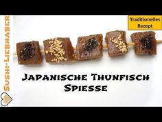 Roher Thunfisch Spieß mit japanischer Marinade - Schnell zubereitet und wahnsinnig leckere Vorspeise aus Japan.