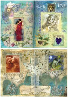Pages from Amanda Clark's Art Journal