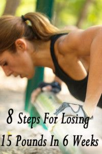 8 Steps for losing 15 pounds in 6 weeks.