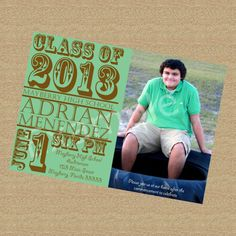 Printable Digital Custom Graduation Photo Invitation for High School or College Graduate. $10.00, via Etsy.-- but Jewel Tones