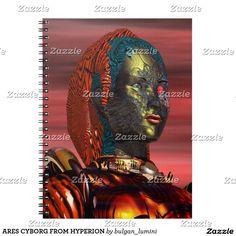 ARES CYBORG FROM HYPERION NOTEBOOK by Bulgan Lumini (c) #robot #tech #scifi #3danimation #android #robotics #geek #nerd #comics
