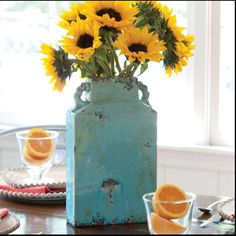 We can't keep this in stock!! Great price! Only $39.96! Beautiful on a mantel. Order at karenallison.store.willowhouse.com  This antiqued vase makes such a powerful style statement; you'll see why we named it after a mythical goddess. Our special turquoise crackle glaze has charcoal accents that make it a stunning, statuesque piece on its own, and it's watertight, so you can use it with flowers or branches as well. The thin footprint is a perfect fit for a windowsill, bookshelf or mantel…