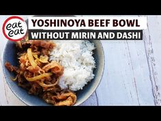 Gyudon, Beef And Rice, Rice Bowls, Food Videos, Mashed Potatoes, Eat, Chicken, Ethnic Recipes, Youtube